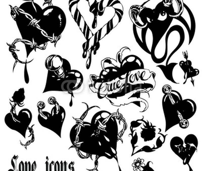 Black heart tattoo designs
