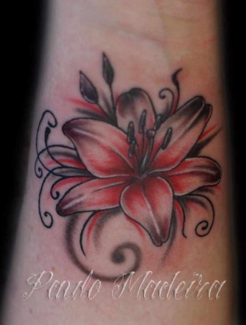 Image result for red lily tattoo