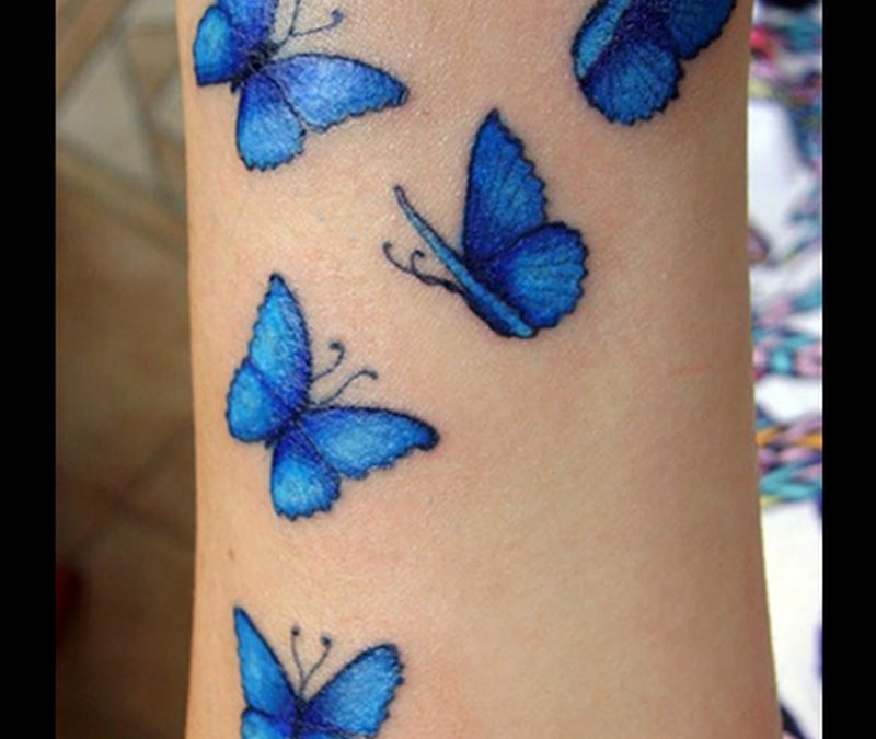 Blue butterflies tattoo image