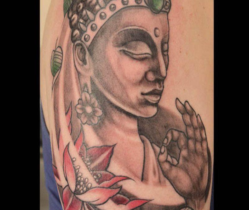 Buddhist tattoo design image
