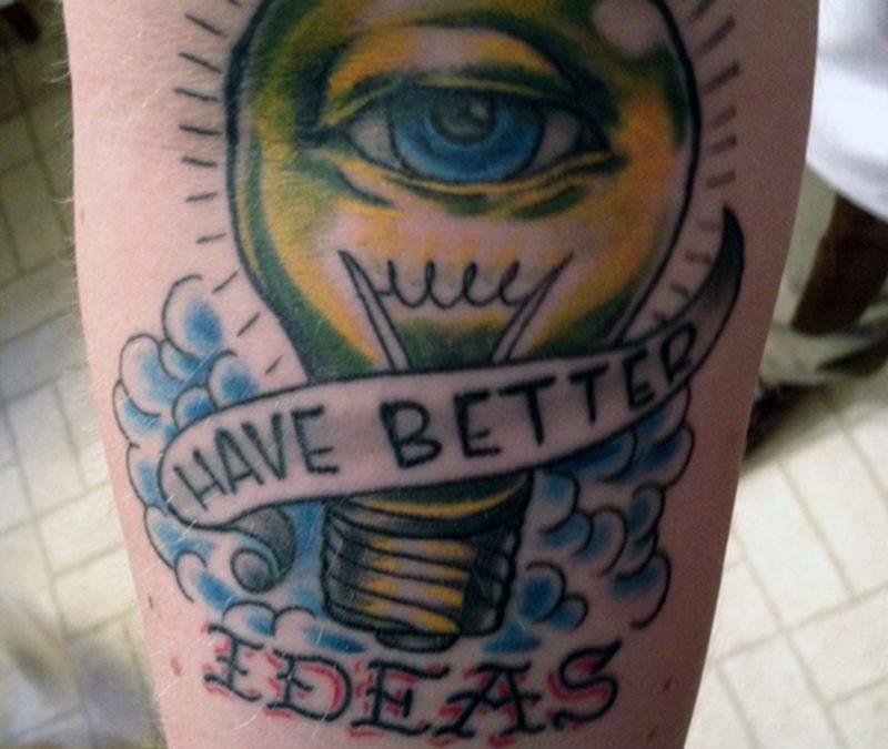 Bulb eye tattoo