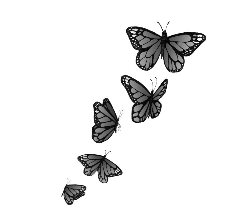 Butterflies tattoo designs