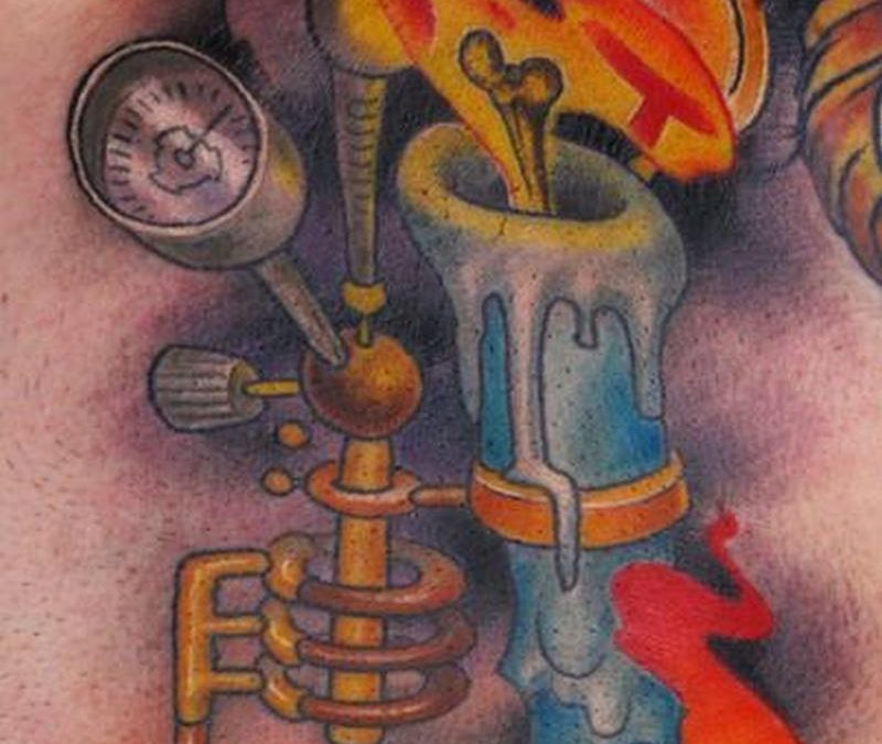 Candle burning at both ends tattoo design 5