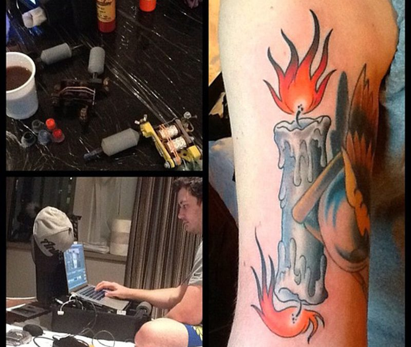 Candle burning at both ends tattoo picture