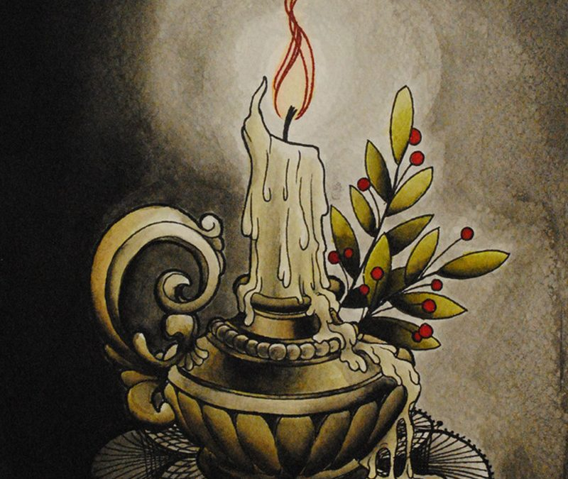 Candle tattoo poster