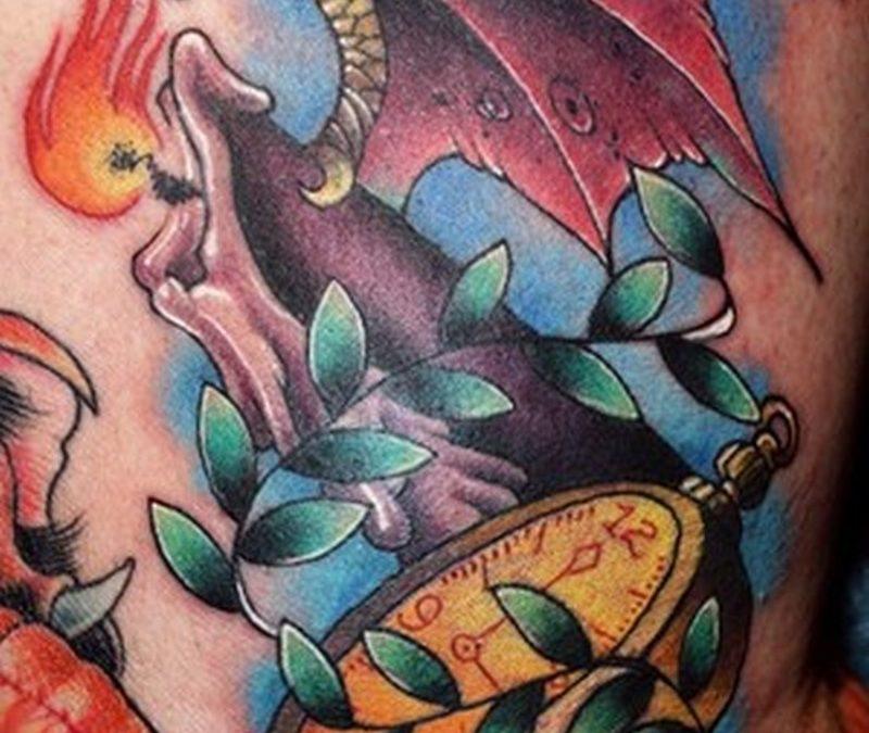 Candle watch tattoo design