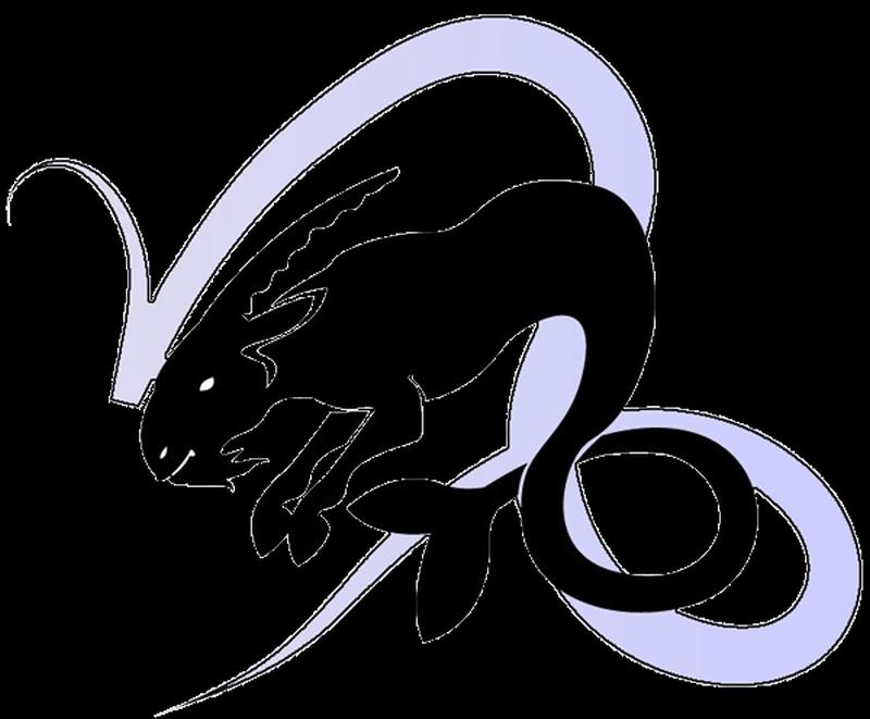 Capricorn zodiac symbol tattoo design
