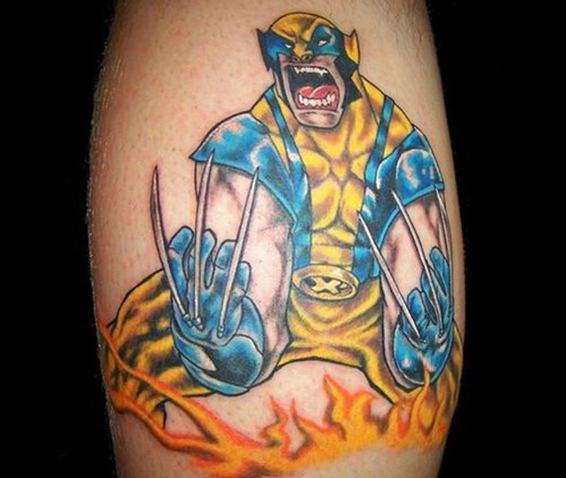 Cartoon zombie tattoo design