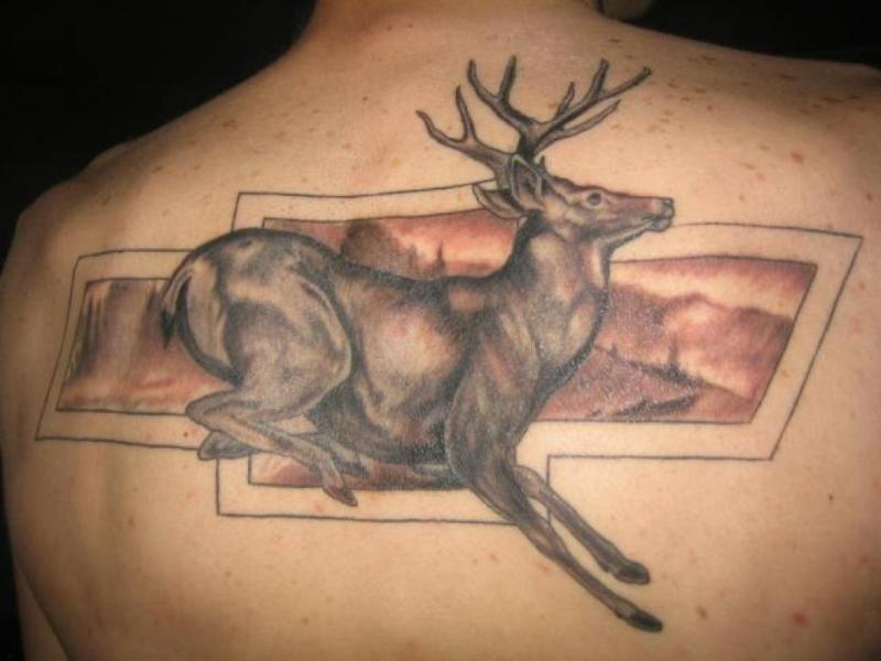 Chevrolet deer tattoo design
