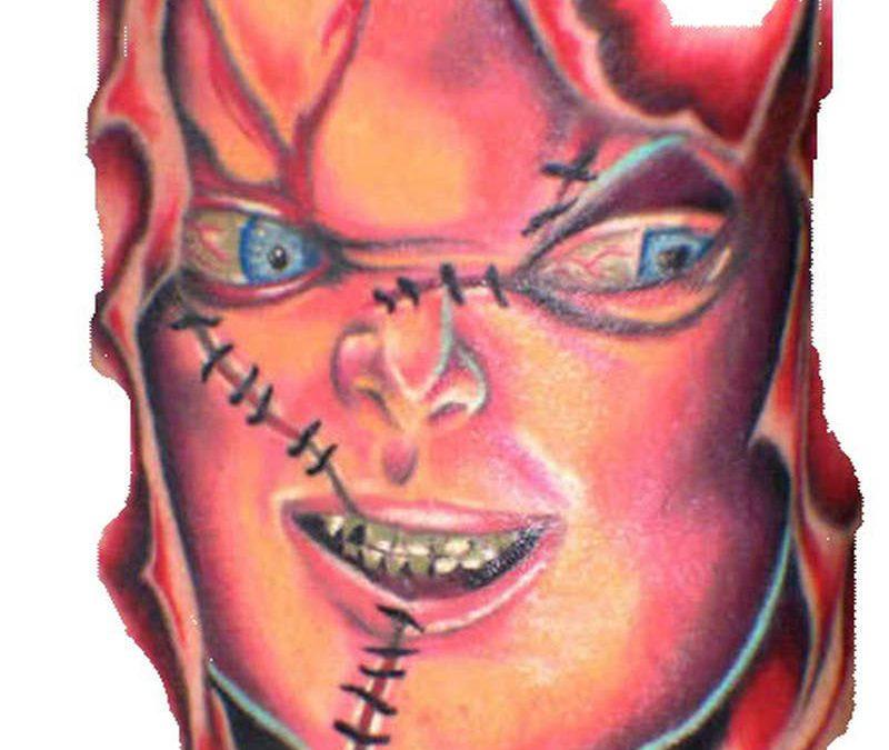 Chucky horror tattoo sample
