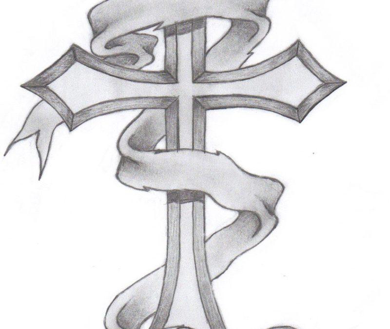 Classic cross tattoo design