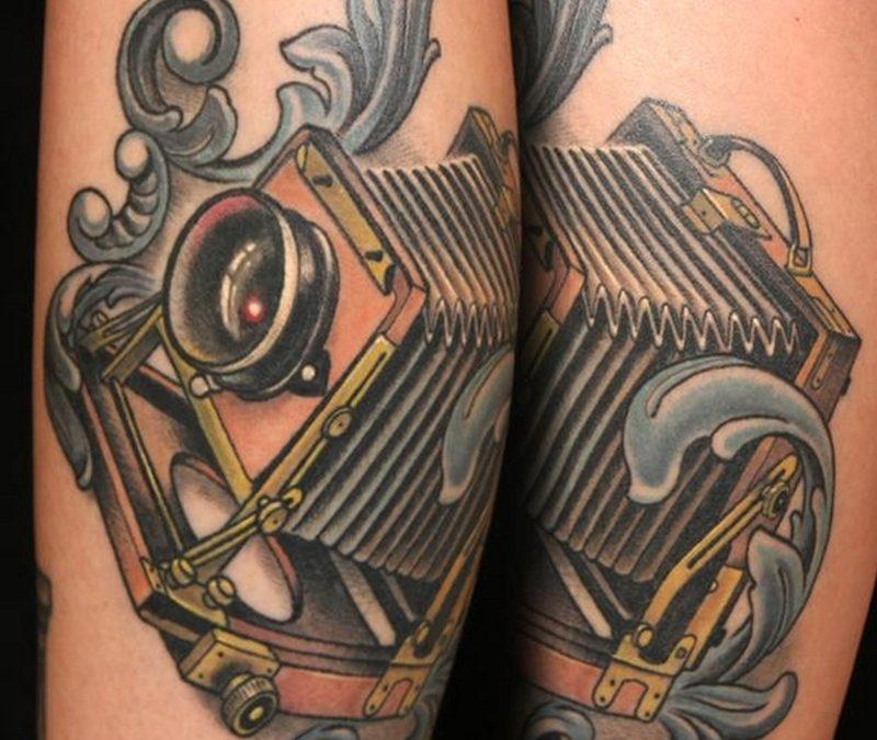 Classic vintage camera tattoo