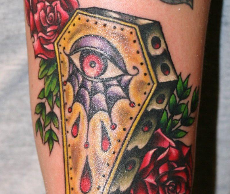 Coffin eye tattoo