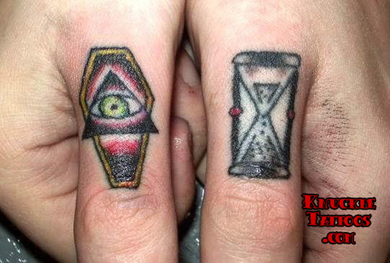 Coffin hourglass tattoo designs