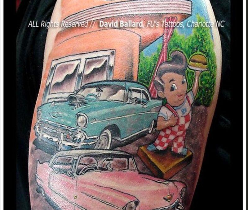 Colorful car tattoo image