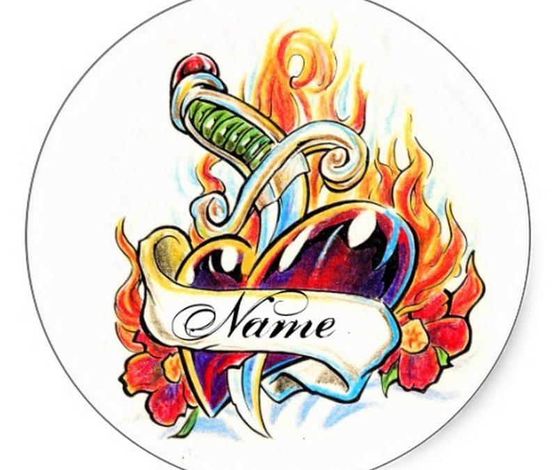 Cool heart n dagger tattoo design