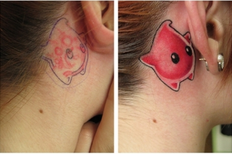Coolest ear tattoo design