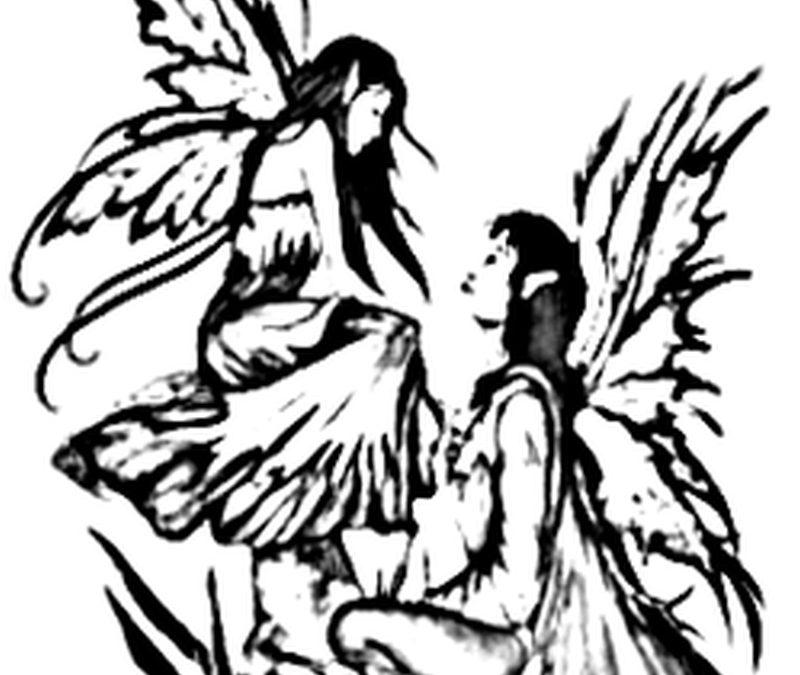 Couple fairy tattoo design