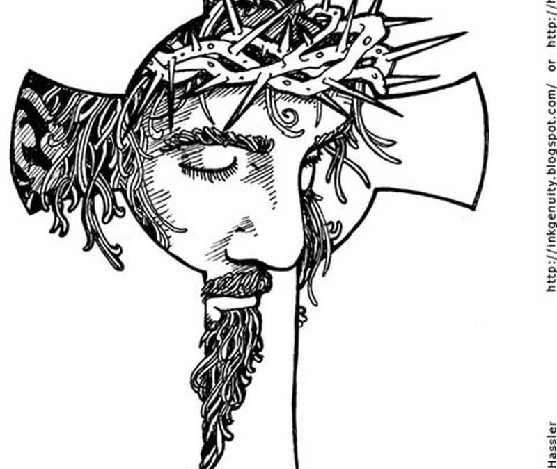 Cross jesus tattoo sample