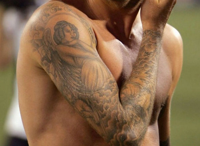 David beckham right arm tattoo