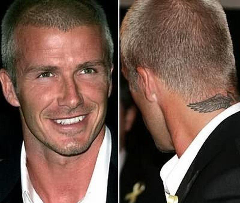 David beckham tattoo on neck back
