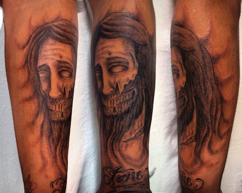 Death to jesus tattoo design