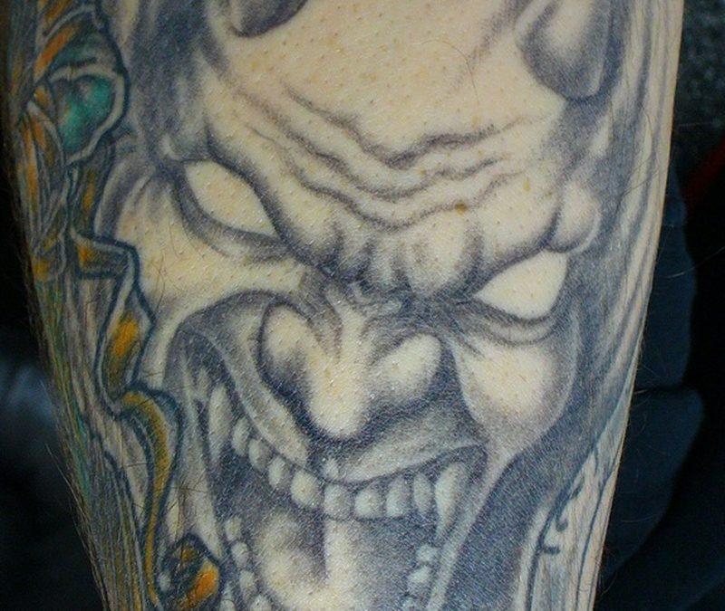 Demon horror tattoo design