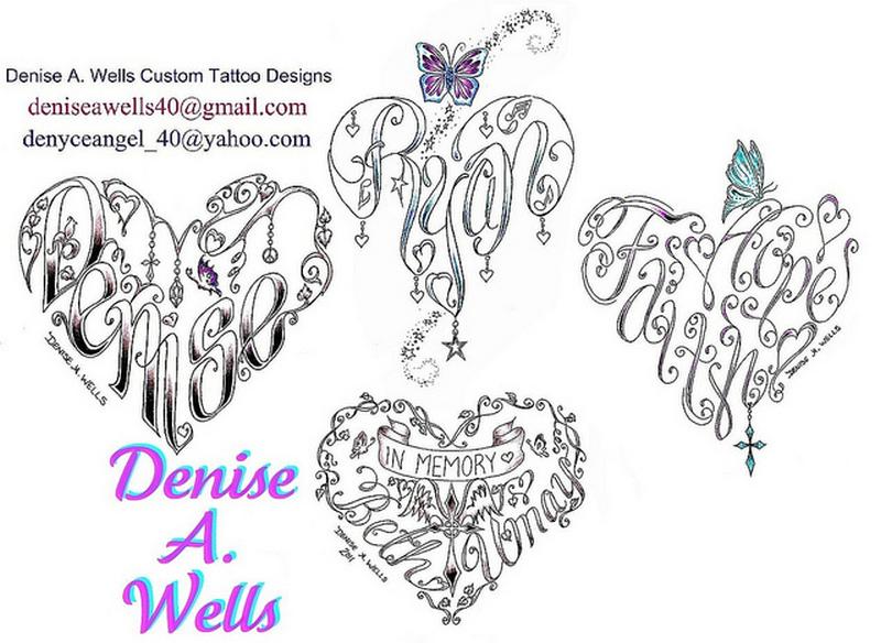 Denise a wells heart tattoo designs