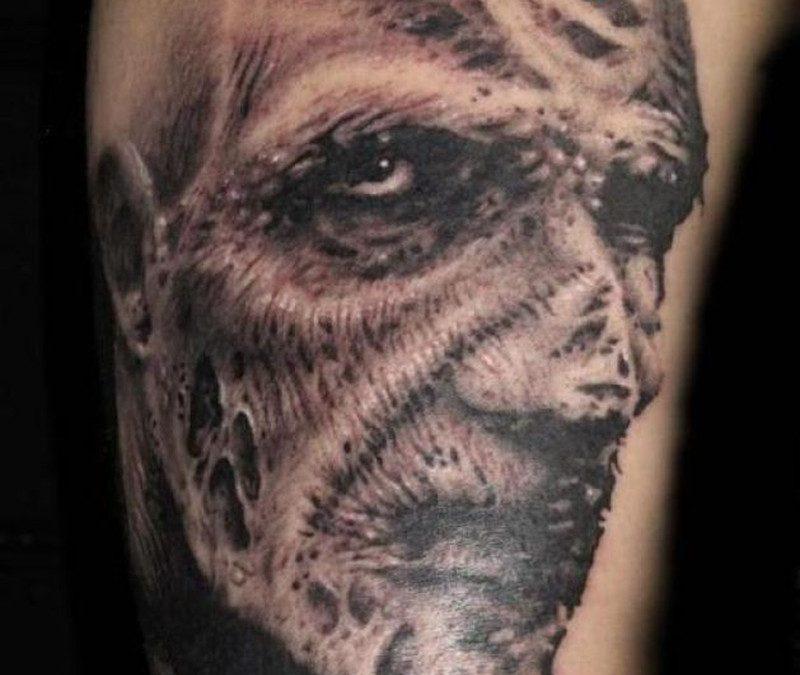 Deom horror tattoo design