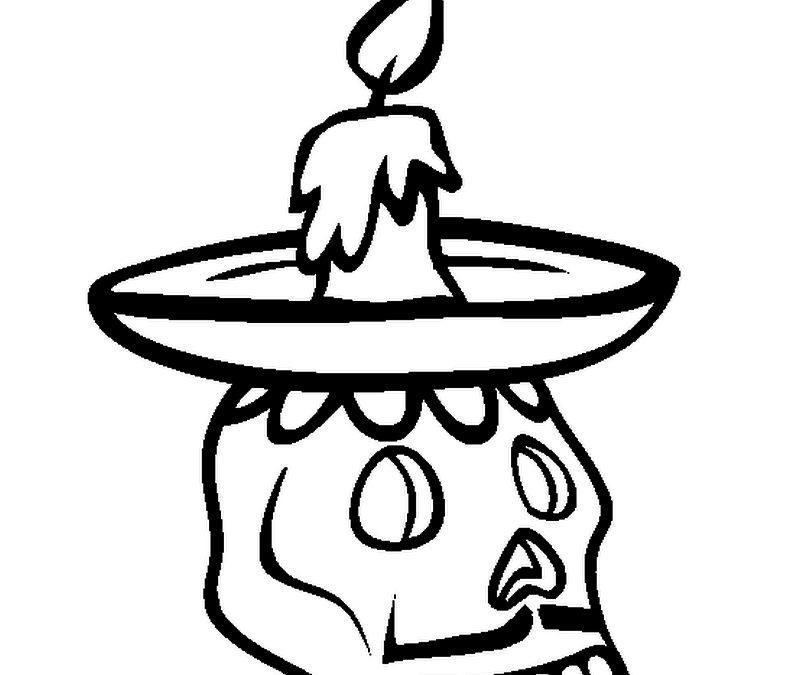 Dia de los muertos candle holder tattoo design