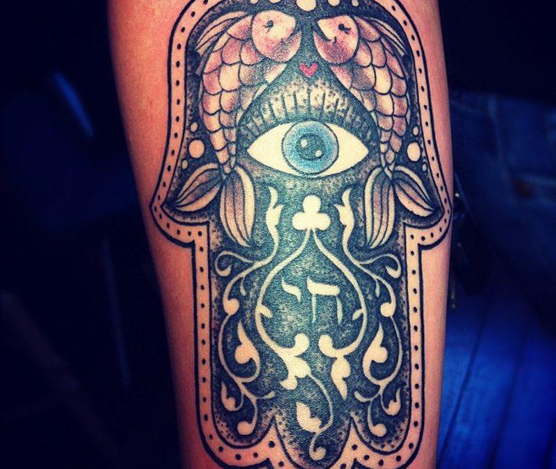 Dia de los muertos eye tattoo design