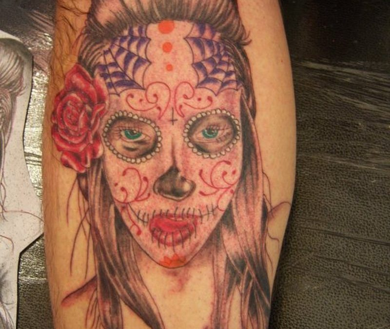 Dia de los muertos gypsy woman tattoo