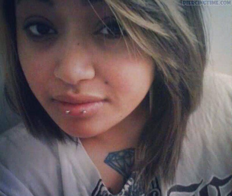 Diamond tattoo n horizontal lip piercing