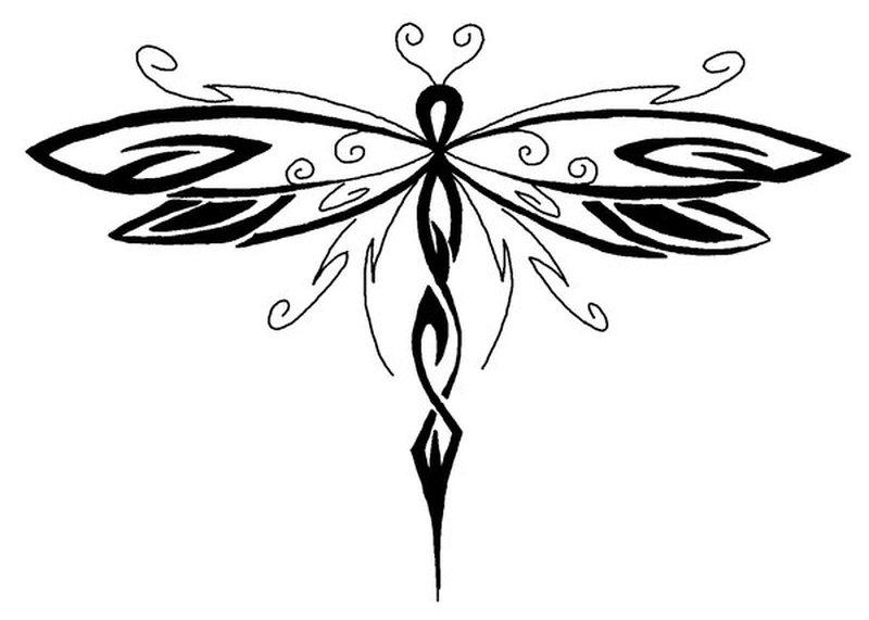 Dragonfly tattoo pattern 2