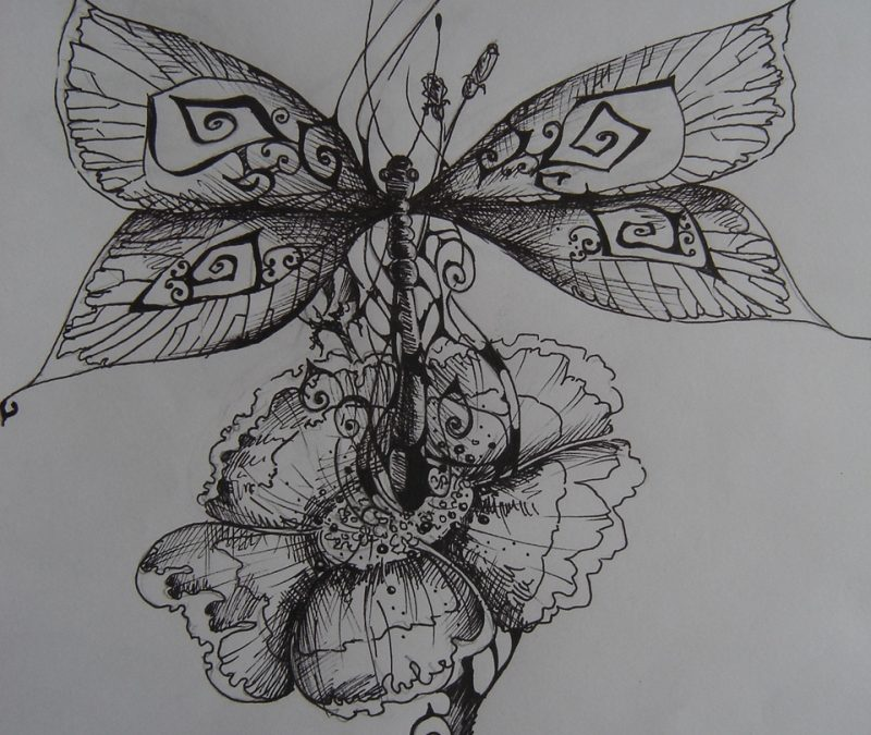 Dragonfly tattoo poster
