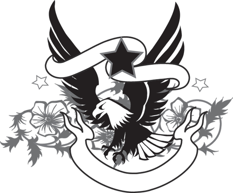 Eagle n star tattoo design