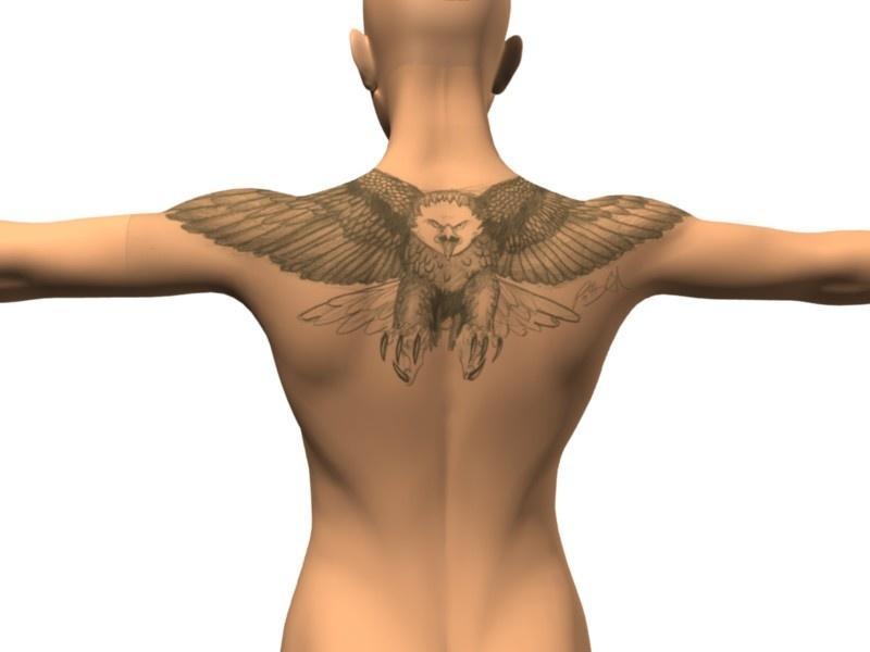 Eagle tattoo graphic