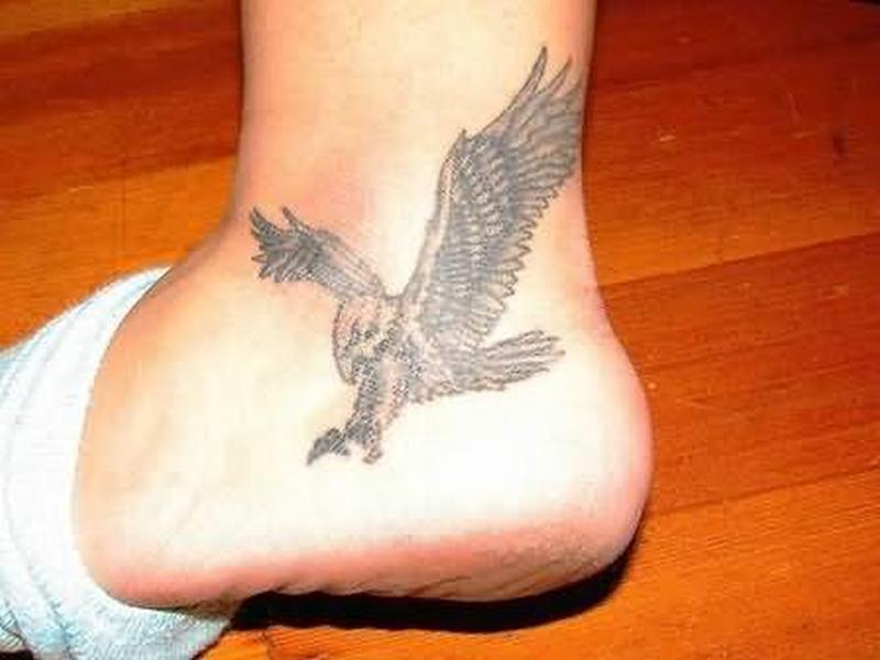 Eagle tattoo on heel