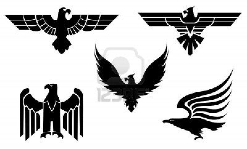 Eagle tattoo set