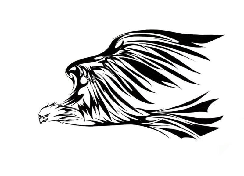 Eagle tribal tattoo design 3