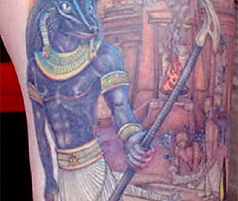 Egyptian ankh phoenix eye of horus tattoo design