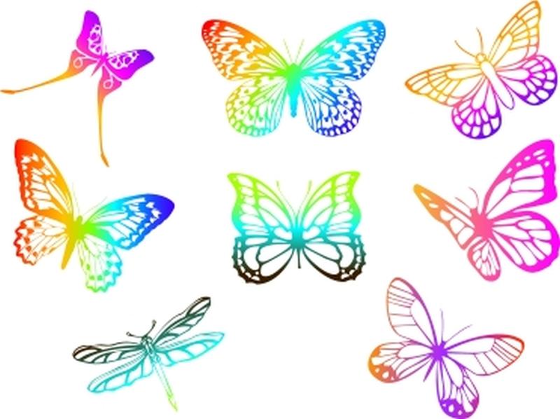 Elegant butterflies tattoo designs
