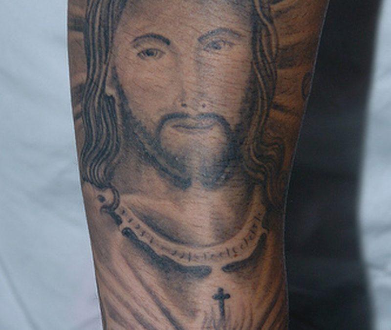 Fantastic jesus tattoo art