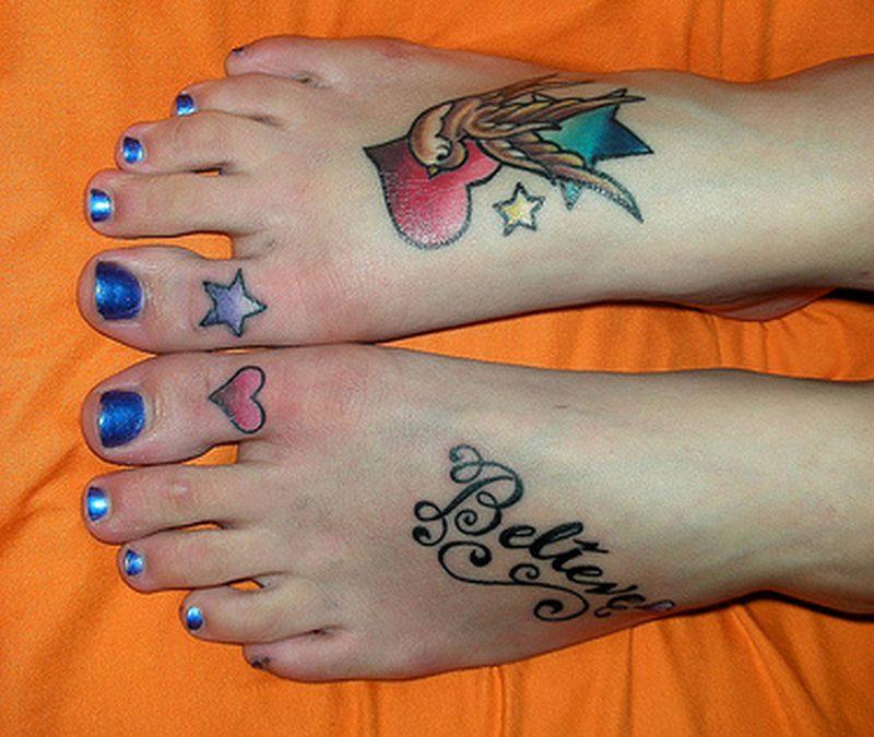 Feminine tattoo designs on feet