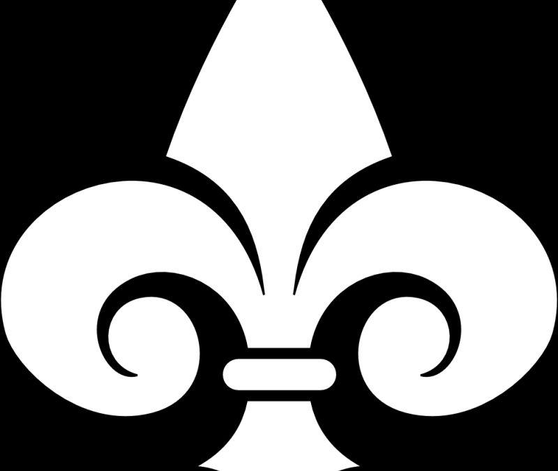 Fleur de lis black white line art tattoo sample