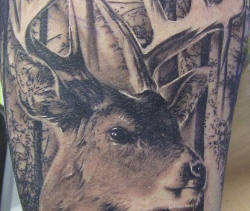 Forest deer tattoo image 2