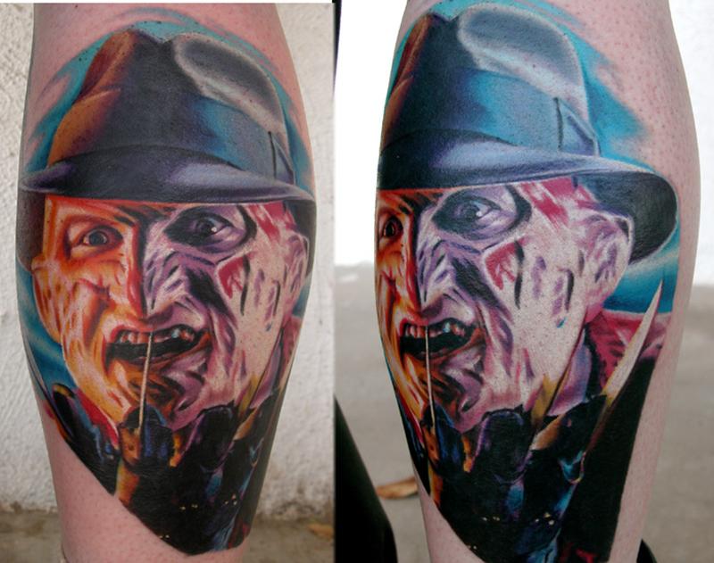 Freddy horror tattoo image