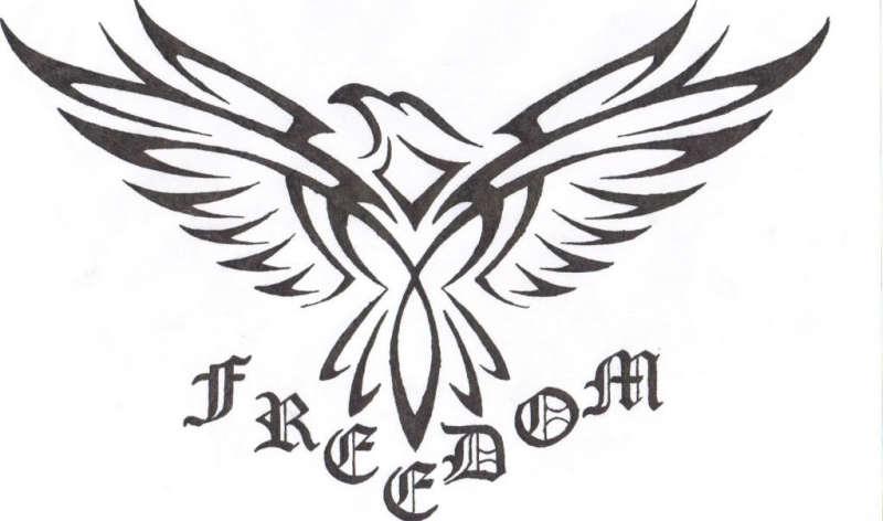 Freedom eagle tattoo sample