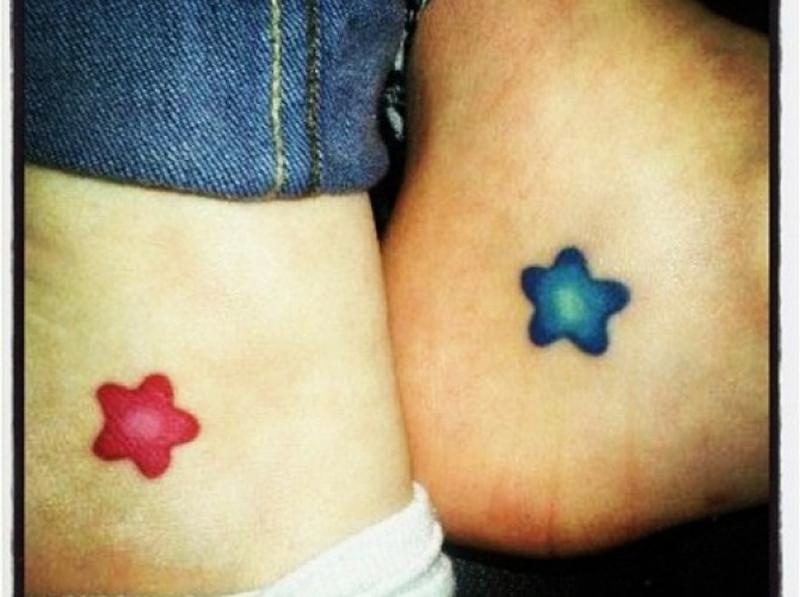 Friendship stars tattoo design
