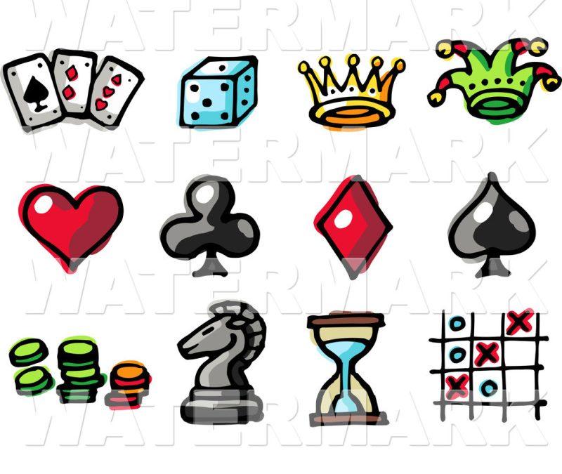 Gambling tattoo clip art